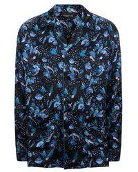 Meng - Men S Black Printed Silk Satin Shirt - Lyst