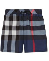 Burberry - Check Drawcord Swim Shorts - Lyst