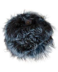 Lilly E Violetta   Light Blue And Grey Fox Fur Snood   Lyst