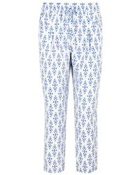 Joie - Dilys Printed Cropped Silk Trousers - Lyst