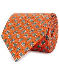 Eton of Sweden - Paisley-print Silk Tie - Lyst