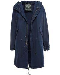 In Lyst Duster Summer Choi Eudon Camellia Navy Blue Coat n0Xx4R8