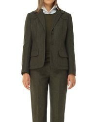 Max Studio - Heather Shetland Wool Fitted Blazer - Lyst