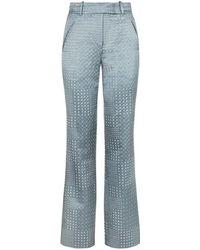 Varana - Jacquard Bandhani Inspired Straight Leg Trousers - Lyst