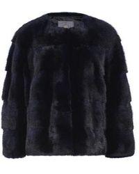 Lilly E Violetta - Sarah Mink Fur Jacket Blu - Lyst