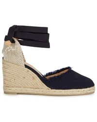 65e988e1eea Castaner - Canela Navy Espadrille Wedge Court Shoes - Lyst