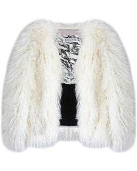 Florence Bridge - Matilda Mongolian Lambswool Jacket (creamy Cloud) - Lyst