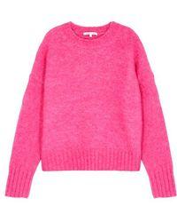 Helmut Lang - Pink Brushed Wool-blend Jumper - Lyst