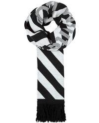 Off-White c/o Virgil Abloh - Monochrome Logo-intarsia Scarf - Lyst