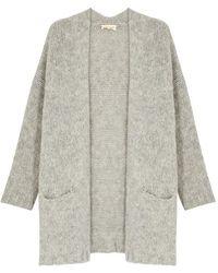 American Vintage - Boolder Grey Chunky-knit Cardigan - Lyst