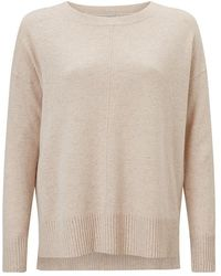 Jigsaw - Crew Neck Step Hem Jumper - Lyst