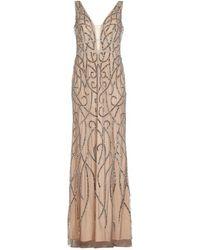 Adrianna Papell - Beaded Long Dress - Lyst
