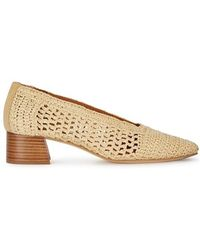 8dad580016 Miista Noa Heel In Legno Raffia in Brown - Lyst