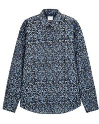 PS by Paul Smith - Blue Camouflage-print Cotton Shirt - Lyst