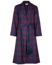 Derek Rose - York Checked Wool Robe - Lyst