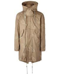 Wooyoungmi - Sand Appliquéd Cotton-blend Coat - Lyst
