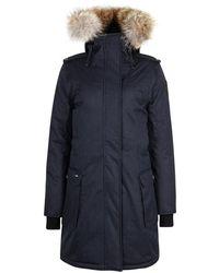 Nobis - Luna Navy Fur-trimmed Shell Parka - Lyst
