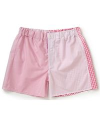 Emma Willis - Pink Patchwork Swiss Cotton Boxer Shorts - Lyst