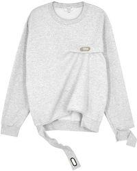 Collina Strada - Name Tag Cotton-blend Sweatshirt - Lyst