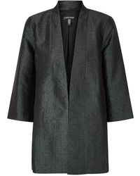 Eileen Fisher - Green Textured Jacquard Jacket - Lyst
