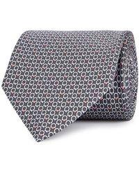 Ferragamo - Gancio Logo-print Silk Tie - Lyst