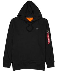 Alpha Industries - Xfit Black Terry Sweatshirt - Lyst
