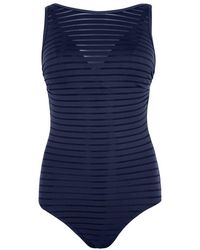 Jets by Jessika Allen - Parallels Navy Swimsuit - Lyst