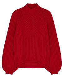 Stine Goya - Red Chunky-knit Wool-blend Jumper - Lyst