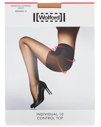 Wolford - Individual Sand Control-top 10 Denier Tights - Lyst