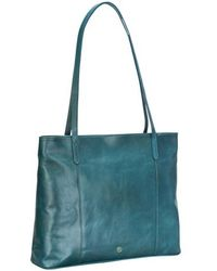 Maxwell Scott Bags - Petrol Leather Ladies Tote Handbag - Lyst