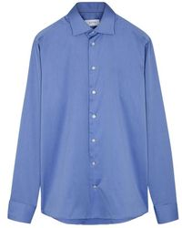 Eton of Sweden - Blue Slim Cotton Shirt - Lyst