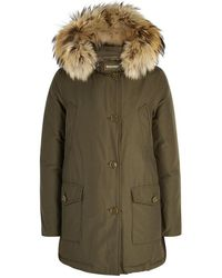 Woolrich - Arctic Fur-trimmed Cotton Blend Parka - Lyst