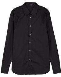 Alexander McQueen - Black Harness Cotton-blend Shirt - Lyst