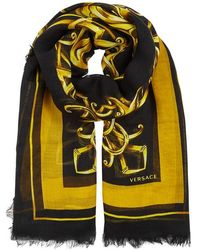 Versace - Printed Silk-blend Scarf - Lyst