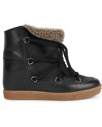 Isabel Marant | Nowles Black Snow Boots | Lyst
