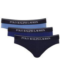 Polo Ralph Lauren | Stretch Cotton Briefs - Set Of Three - Size L | Lyst