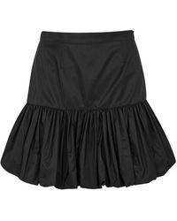 Stella McCartney - Black Puff-hem Taffeta Skirt - Lyst