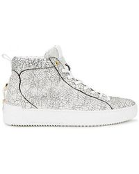 Android Homme - Alfa Cracked-effect Hi-top Leather Trainers - Lyst