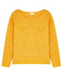 American Vintage - Zapitown Yellow Alpaca-blend Jumper - Lyst