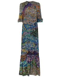 Mary Katrantzou - Mount Millais Silk Blend Devoré Gown - Lyst