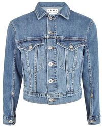 1887411a125dc3 Proenza Schouler - Blue Cropped Stretch-denim Jacket - Lyst