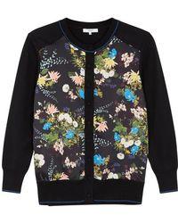 Erdem - Maude Floral-print Wool Cardigan - Lyst