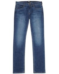PAIGE - Croft Blue Skinny Jeans - Lyst