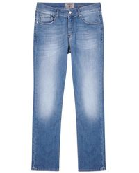 7 For All Mankind - Slimmy Weightless Light Blue Slim-leg Jeans - Lyst