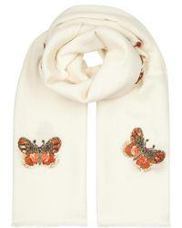Janavi - Butterfly-embellished Merino Wool Scarf - Lyst