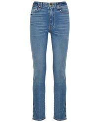 Khaite - Vanessa Blue Straight-leg Jeans - Lyst