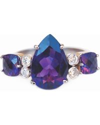 Isabel Englebert Empress Amethyst Diamond Ring - Purple