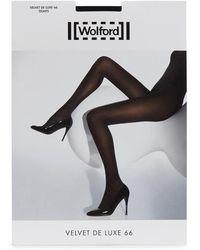 Wolford - Velvet De Luxe Navy 66 Denier Tights - Size M - Lyst