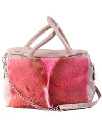 Sherene Melinda - Pink Box Bag With A Fan - Lyst