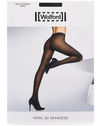 Wolford - Fatal Black 50 Denier Tights - Size Xs - Lyst